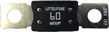 Alta calidad Mega fusible 60Amp fusible Littel perno abajo M8blanco cobre extremos 12V 24V 32V 192792