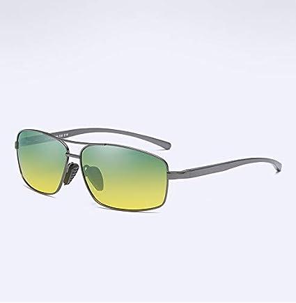 Nuevas Gafas de Sol polarizadas Montura metálica Aluminio Magnesio Piernas Día y Noche Conductor Conductor Espejo