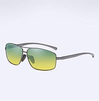 c342e0355c Gafas de Sol polarizadas Montura metálica Aluminio Magnesio Piernas Día y  Noche Conductor Conductor Espejo,