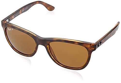Ray-Ban RB4184 Square Sunglasses, Shiny Dark Tortoise/Polarized Brown, 54 mm