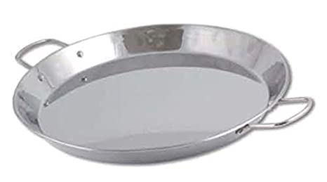 Chef Direct Stainless Steel Round Dish Paella Pan 30 Cm // Chef Direct // Paellera Inox