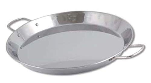 - Chef Direct Stainless Steel Round Dish Paella Pan 13.6 INCH (34 cm) // Induction Friendly Spanish Rice, Valencian.