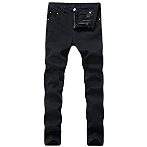 Men's Fitted Stretchable Fashion Denim Jeans Pants Trousers