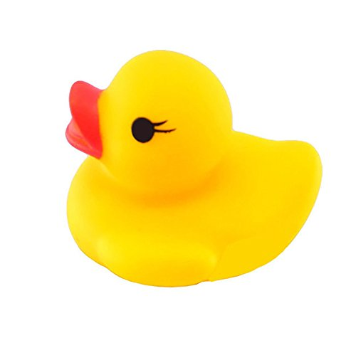 10PC Squeeze Toys Call Rubber Duck Ducky Duckie Baby Shower Bath Toy - Duckie Rattle