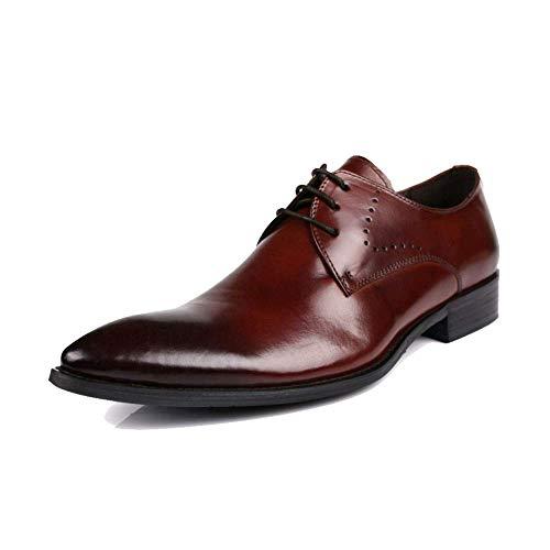 Indicato Formale Lavoro Traspirante Abbigliamento 38 Taglio Basso Britannico da brown ZQZQ Red 4wxqUCAnA