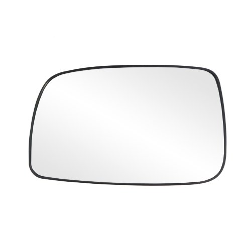 (Fit System 33205 Toyota Camry Sedan Left Side Heated Power Replacement Mirror Glass with Backing Plate)