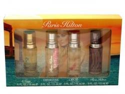 Paris Hilton 4Pc Mini Set (4X15 Miniature Spray Paris Hilton + Can Can + Heiress + Fairy Dust) for Women by - Parlux Fragrances Spray