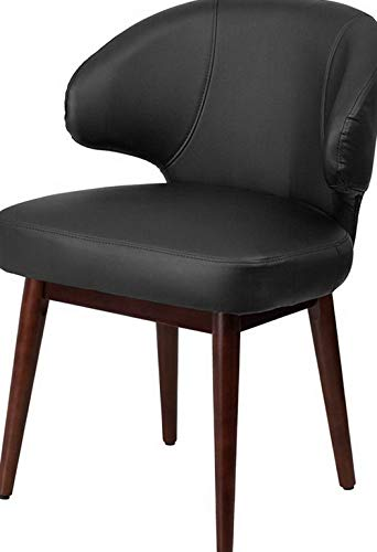 Mikash Contemporary Design Comfort Back Black Leather Reception Lounge Office Chair | Model LNGCHR - 294 |