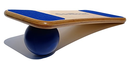 CoolBoard Balance Board –The only true 3D / 360 balance & exercise training board – Large with Standard Speed 6 inch Pro Ball. Wobble Board, rocker board, balance trainer, core strength by CoolBoard