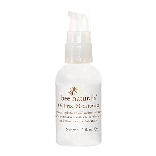 Bee Naturals Best Oil Free Moisturizer – Facial Cleanser for Oily, Dry, Sensitive or Acne Prone Skin – Perfect for Men & Women – Natural + Anti-Inflammatory – Keeps Your Skin Soft & Refreshed