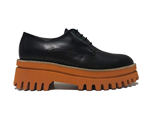 Caucho Zapatos Cordones Negro de PALOMA BARCELO' de para Mujer 5wqxSgBXng