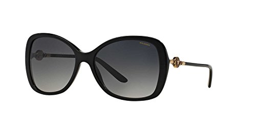 Versace Womens Sunglasses (VE4303) Black/Grey Acetate - Polarized - 58mm by Versace