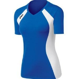 Volleyball Jersey Shirt - ASICS Women's Aggressor Volleyball Jersey (Royal/White), Medium