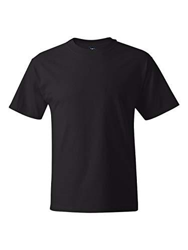 (Hanes Men's Short-Sleeve Beefy T-Shirt,Black,Large)