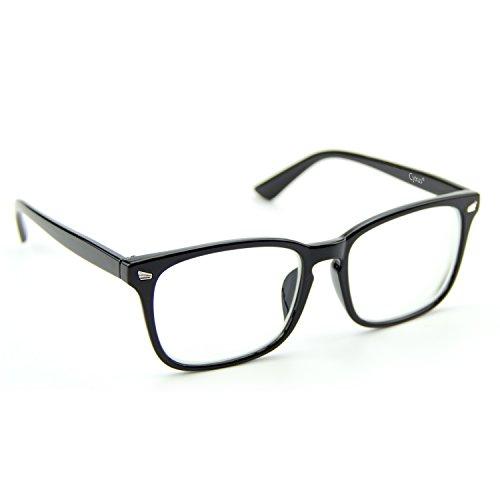 Cyuxs Blue Light Filter Nearsighted Myopia Glasses, [Anti Eyestrain] [UV Blocking] Cell Phone Computer Reading Glasses, Men & Women (Strength: -1.25)