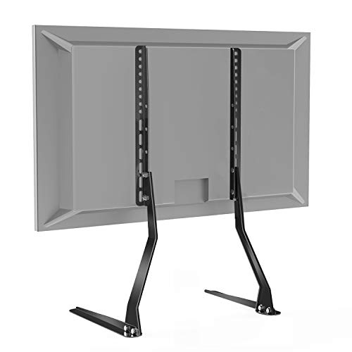 PERLESMITH Universal Table Top TV Stand for 37-70 Inch Flat Screen, LCD TVs Premium Height Adjustable Leg Stand Holds up to 110lbs, VESA up to 800x400mm