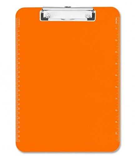 Sparco Products Plastic Clipboard Orange