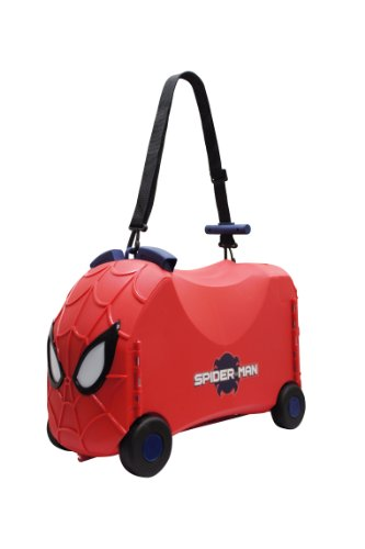 Ride-On Toy Box - Spiderman Toy Storage Case And Ride Along Toy