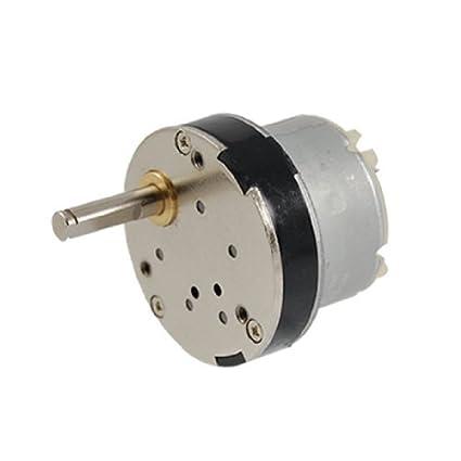 Amazon.com: DealMux DC 12V 50 rpm 5 milímetros Shaft High Torque Gear Box Motor Novo: Automotive
