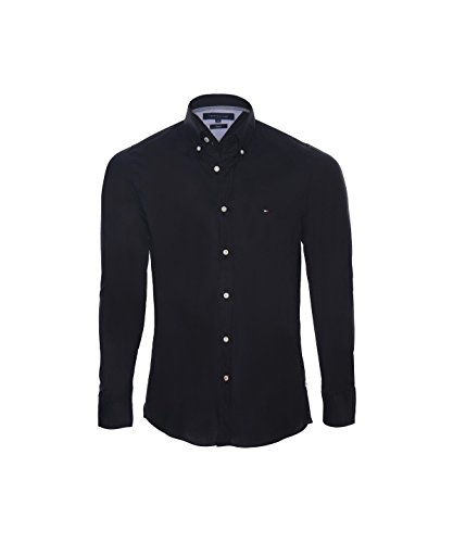 Tommy Hilfiger Herren Hemden in verschiedenen Farben und Größen erhältlich, Grösse:Medium;Farbe:schwarz