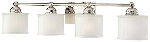 Minka Lavery 6734-1-613, 1730 Series Reversible Wall Vanity Lighting, 4LT, 400w, Polished Nickel - Minka Lavery Vanity Lighting