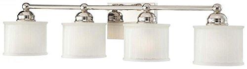 Minka Lavery Wall Light Fixtures 6734-1-613, 1730 Series Reversible Bath Vanity Lighting, 4 Light, 400w, Polished ()
