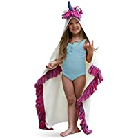 Born To Unicorn Blanket for Girls- Hooded, Kids Pink,...
