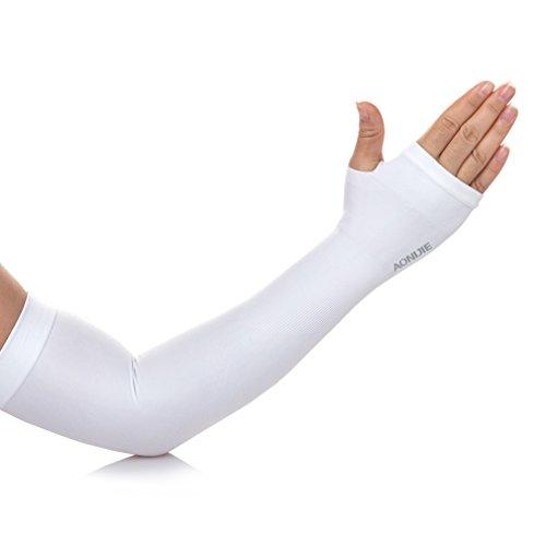 AoMagic Cycling UV Protection,Sun Protection,Arm Sleeve Finger Hole