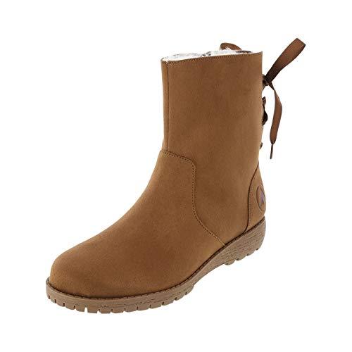 Airwalk Cognac Women's Ziah Tie Back Cozy Boot 13 ()