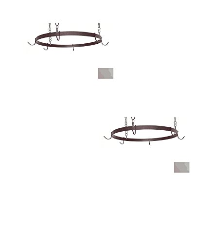 20-in x 20-in Stone Round Pot Rack - Grace Collection Model - GMC-BR-20-ST - Set of 2 Gift Bundle by Grace Collection