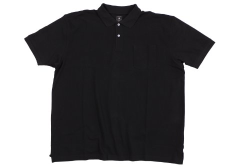 Schwarzes Poloshirt von Kitaro in Übergrößen bis 8XL