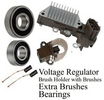 Alternator Rebuild Kit; Voltage Regulator Bearings 1998-2002 Jaguar Vanden Plas XJ8 XJR XK8 XKR 13758RK Brushes