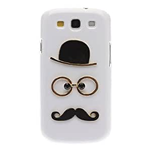 Exquisite Design Hat, Glasses and Moustache Style Hard Case for Samsung Galaxy S3 I9300