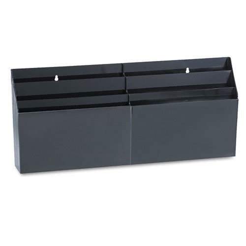 6 Pocket Organizer,Letter Size,24-5/8x2-3/4x11-1/2,Black, Sold as 1 Each by Rubbermaid