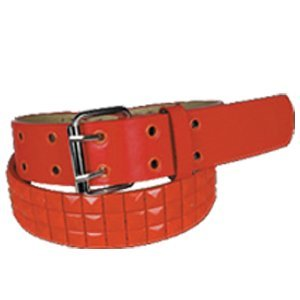3d25268341c598 eeddoo Roter Nietengürtel mit roten Nieten - 3-reihig M [Medium]  (Wechselgürtel