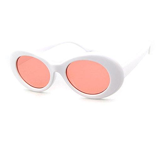 GUVIVI Clout Goggles Oval Mod Retro Vintage sunglasses Fashion Kurt Cobain (C8 - Trend Glasses Korean 2016