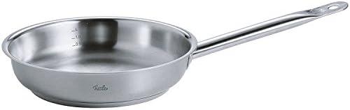 """Fissler FISS-08436824100 Original Profi Stainless Steel Fry Pan, 10"""", Silver"""