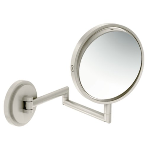 31WNeEEfxsL - Moen YB0892BN Arris Mirror, Brushed Nickel