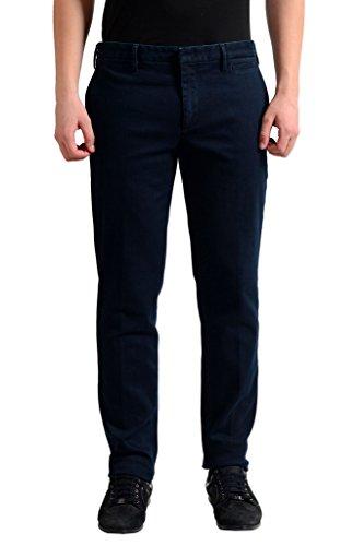 (Prada Men's Dark Blue Denim Casual Pants US 32 IT 48;)