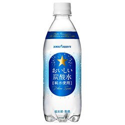 Pokka Sapporo delicious carbonated water 500mlPETX24 pieces X (2 cases) by POKKA SAPPORO
