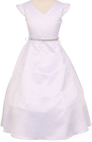 2009 Bridesmaid Dresses (Communion Flower Girl Dress Collection from Cinderella for Big Girl White 10 CC 2009-42)
