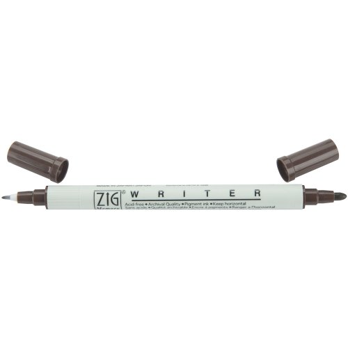- Zig Memory System Writer Dual Tip Marker, Chocolate