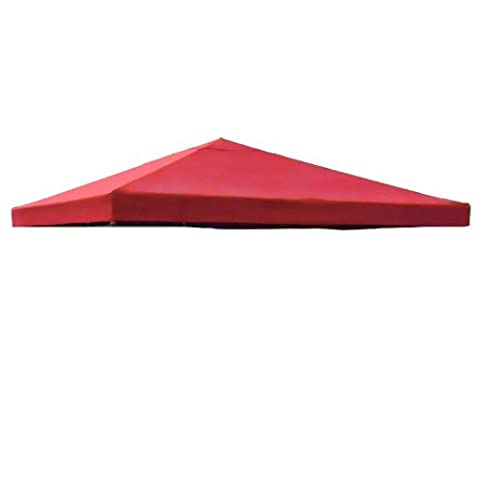 Red Single Tier Patio Sun Shade 10x10 Ft Garden Canopy Gazebo Replacement Top One Tier Outdoor Patio Yard Party UV Protection Sun Block Shade Poly-vinyl Fabric 121 x 121 In. - Party Tent Replacement