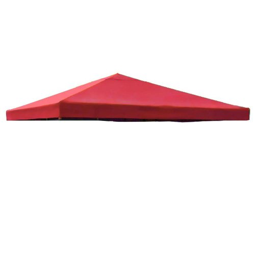 Red Single Tier Patio Sun Shade 10x10 Ft Garden Canopy Gazebo Replacement Top One Tier Outdoor Patio Yard Party UV Protection Sun Block Shade Poly-vinyl Fabric 121 x 121 In. Tent by MTN Gearsmith