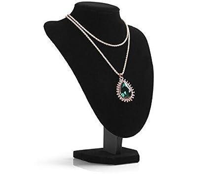 XL Kamays nero Supporto esposizione dellorecchino del pendente del collare dei monili del braccialetto del mannequin negozio