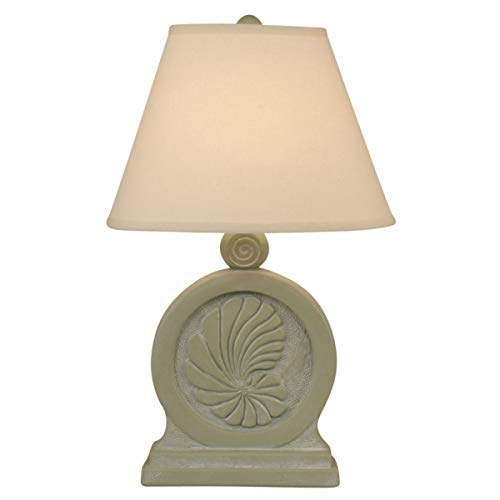 - Coast Lamp Sage Wash Framed Nautilus Shell Table Lamp