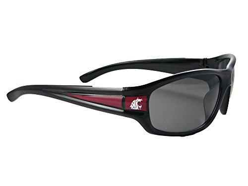 Washington State Cougars WSU Mens Black Sport Sunglasses - Wsu Sunglasses