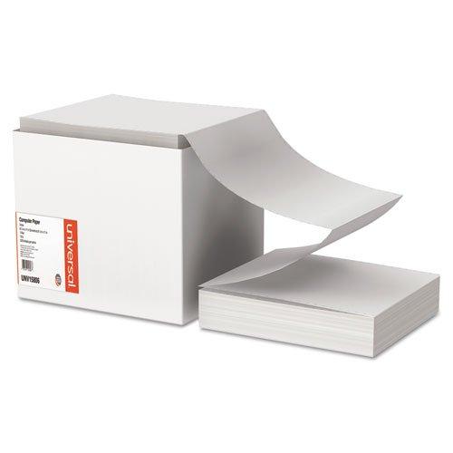Computer Paper, 15lb, 9-1/2 x 11, Letter Trim Perforations, White, 3300 Sheets, Sold as 1 Carton, 3300 Sheet per Carton ()