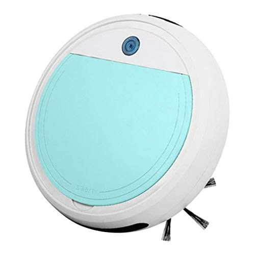 FLAMEER-Robot-Aspirador-Tecnologia-Avanzada-Aspiradora-Barredora-Fregadora-y-Pasa-Mopa-USB-Carga-15-Grados-de-Escalada-Blanco-Cian