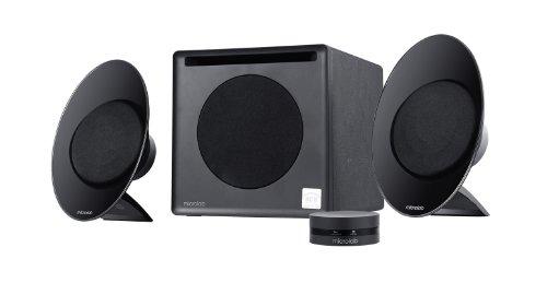 Microlab FC50 54 W Near-Field Hi-Fi Enclosure-Free 2.1 Speaker w/ Digital Signal Processor (DSP) for PC and Multimedia Entertainment